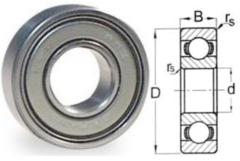 """1654 ZZ Double Shield 1-1/4"""" X 2-1/2"""" X 5/8"""""""