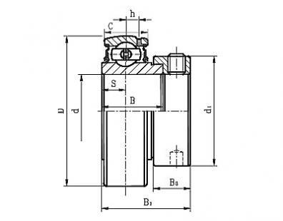 GRA103RRB2 TIMKEN FAFNIR Standard Duty Eccentric Locking Collar Type Ball Bearing Inserts MADE IN USA