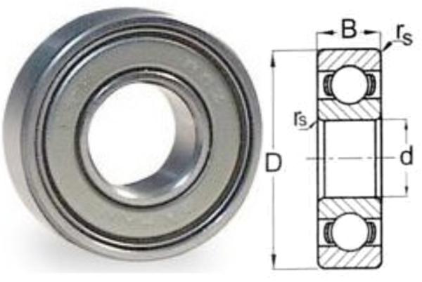 635 ZZ Double Shield Ball Bearing 5 X 19 X 6