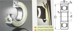 6004 ZZE Nachi Double Shield 20 X 42 X 12