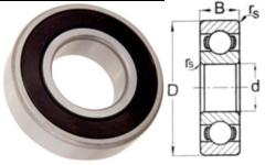 6800 2RS Double Seal Ball Bearing 10 X 19 X 5