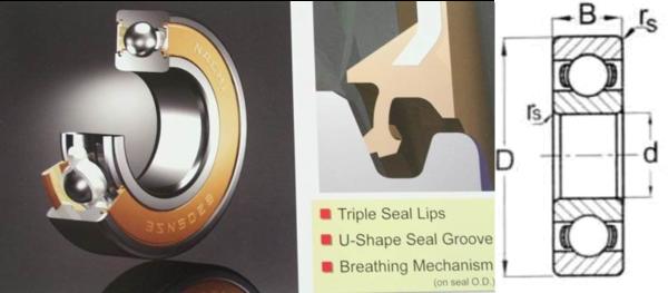 6200 2NSE Nachi Double Seal 10 X 30 X 9