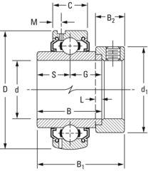 G1107KLLB TIMKEN Fafnir® Eccentric Locking Collar Ball Bearing