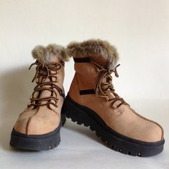 Skechers Nubuck Fur Lined Lace Up Ankle Trail Walking Casual Boot UK 3.5 EU 36.5