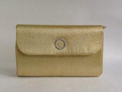 Debonair Light Weight 1960s Gold Larmé Fabric Vintage Handbag Gold Toned Frame Ivory Fabric Lining