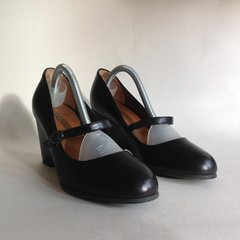 HOBBS Gorgeous Vintage Style Round Toe Black Ladies  All Leather Mary Jane Shoe With Original Box UK Size 3 EU 36