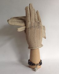 Polya A Lovely Pair of Ivory 1950s Vintage Driving Occasional Gloves Size 7
