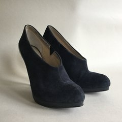 Autograph Marks & Spencer Blue Suede High Heel Bootie Ankle Boots UK 5.5 EU 38