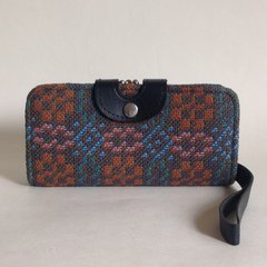 Welsh Tapestry Large 1950s Vintage Wristlet Purse Wallet Faux Leather Lining