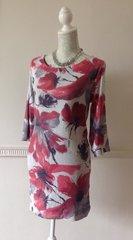 Zara Basics Fully Lined Long Sleeve Sequin Shift Dress Size Large Size 16 Party