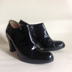 "CLARKS 'Lion Cub' Black Leather 3"" Heel Boot Bootie Side Zip Boot UK 5.5 EU 38.5"