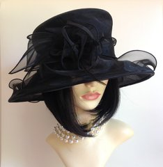 Marks & Spencer Black Sheer Net Fabric Formal Hat Layered Bow & Feather Detail