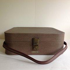 Revelation Kelvin Super Light Luggage Overnight Case In Brown Vinyl Key & Tags