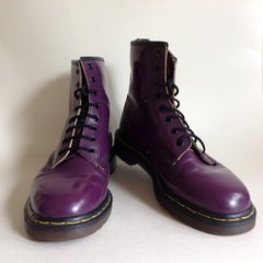 Dr Martens Air Wair Purple Leather Lace Up Boot UK 9 EU 43