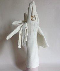 "Ivory Soft Kid Skin 1950s Vintage 13"" Evening Gloves Weddings Church Size 7"