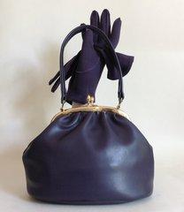 Mod Go Go Soft Purple Vinyl 1960s Vintage Handbag Peach Rayon Lining Goodwood