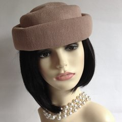 Kangol Elegant Dusky Pink French Style 1960s Pill Box Hat