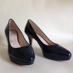 VINCE CAMUTO Desti Blue Patent Leather Court Shoe Size UK 4.5 EU 37.5