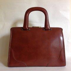 Whisky Tan Faux Leather 1960s Vintage Handbag Box Bag Vanity Case Kelly Bag