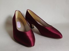 "Katz Bridal Designs Claret 2"" Heel Satin Court Shoe Wedding Bridesmaids Size UK 5 EU 38"