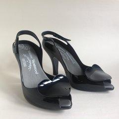 Vivienne Westwood Black Rubber Anglomania Melissa Lady Dragon Shoe Size UK 6 EU 39 US 8