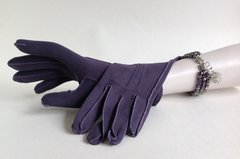 1950s Vintage Soft Muted Purple Cotton Gloves Size 7