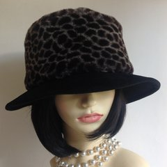 Marks And Spencer Black Felt And Faux Fur Brimmed Hat Church One Size