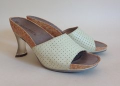 Diesel 'Love' Soft Leather Pale Green Slip On Mules Size UK 6.5 EU 39