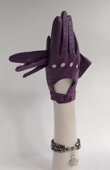 Vintage 1960s Style Soft Leather Purple Driving Gloves Church Races Size 7