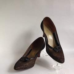Bective A Stunning Pair of Bronze 1950s Vintage Court Shoe Size UK 4.5 EU 37.5 US 6.5C