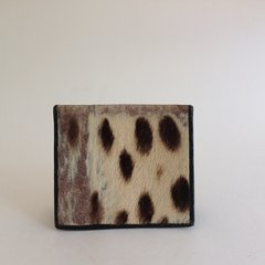 Vintage 1950s Pony Skin & Black Leather Bi-Fold Note Wallet