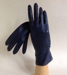 Dents 1950s Blue Grey Leather Vintage Gloves Size 6.5