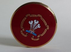 Charles & Diana 1981 Wedding Commemorative Oxblood Enamelled Powder Compac
