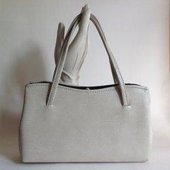 1960s Vintage Handbag Ivory Faux Leather Granny Fashion Church Kelly Bag Mad Men
