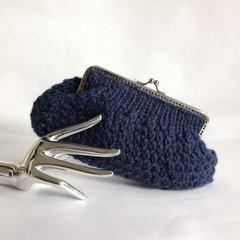 Lisbeth Dahl 100% Sheep Wool Chunky Knitted Clutch Bag Purse
