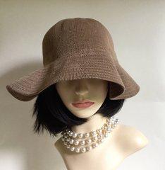 Scala Mid Brown Acrylic Floppy Summer Casual Sun Hat
