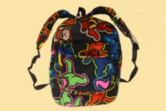 Grateful Dead Dancing Bears Jumble Coral Fleece Backpack