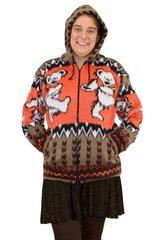 Grateful Dead Tan Dancing Bear Alpaca Style Jacket