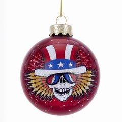 Grateful Dead Uncle Sam Glass Ball Ornament