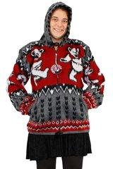 Grateful Dead Grey Dancing Bear Alpaca Style Jacket