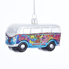 Dancing Bear Bus Ornament