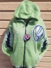 Grateful Dead Green SYF Alpaca Style Jacket