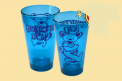 Grateful Dead Dancing Bear Colored Pint Glass