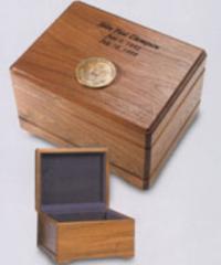 Walnut Memento Memorabilia Chest