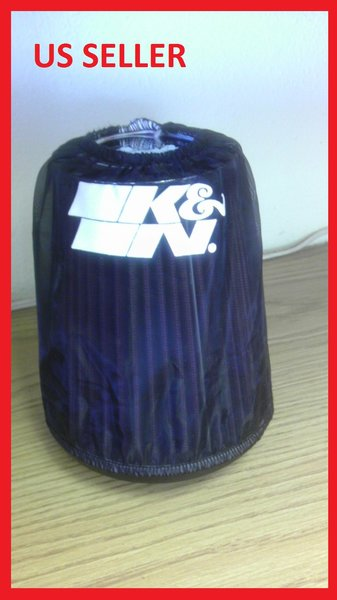 """3"""" K&N Filter With Sock coated with silcone.So rain water will not hurt the filter."""