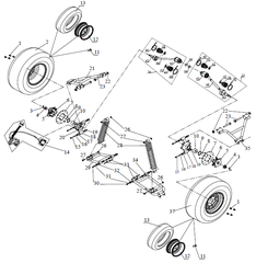 650SS Rear Suspension Parts