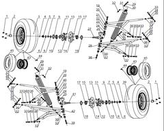1100SV Front Suspension Parts