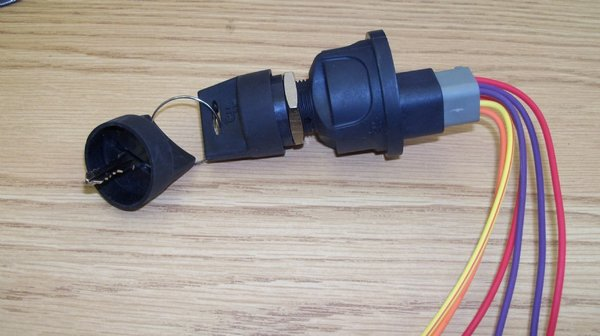 4 Wire Ignition Switch Water Proof.Just plug in to stock wiring harness.