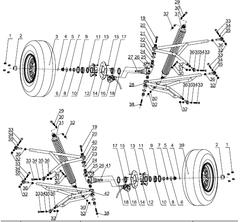 800MV Front Suspension Parts