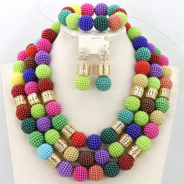 Coral Beads African Nigerian Wedding Party Beads Jewelry Set